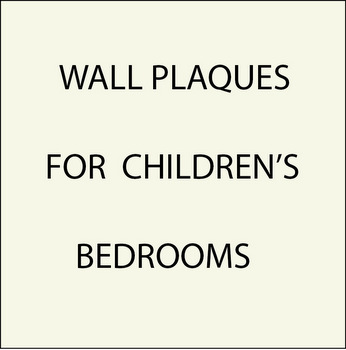 N23000 - 1. Wall Plaques for Children's Bedrooms