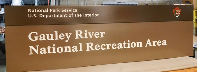 G16019 -  Large Cedar Wood Entrance Sign for the National Park Service's Gauley River National Recreational Area