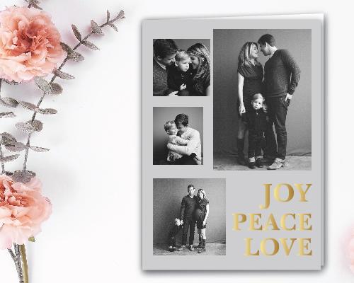 Joy Peace Love Card
