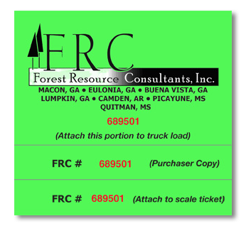 Forest Resource Scale Ticket