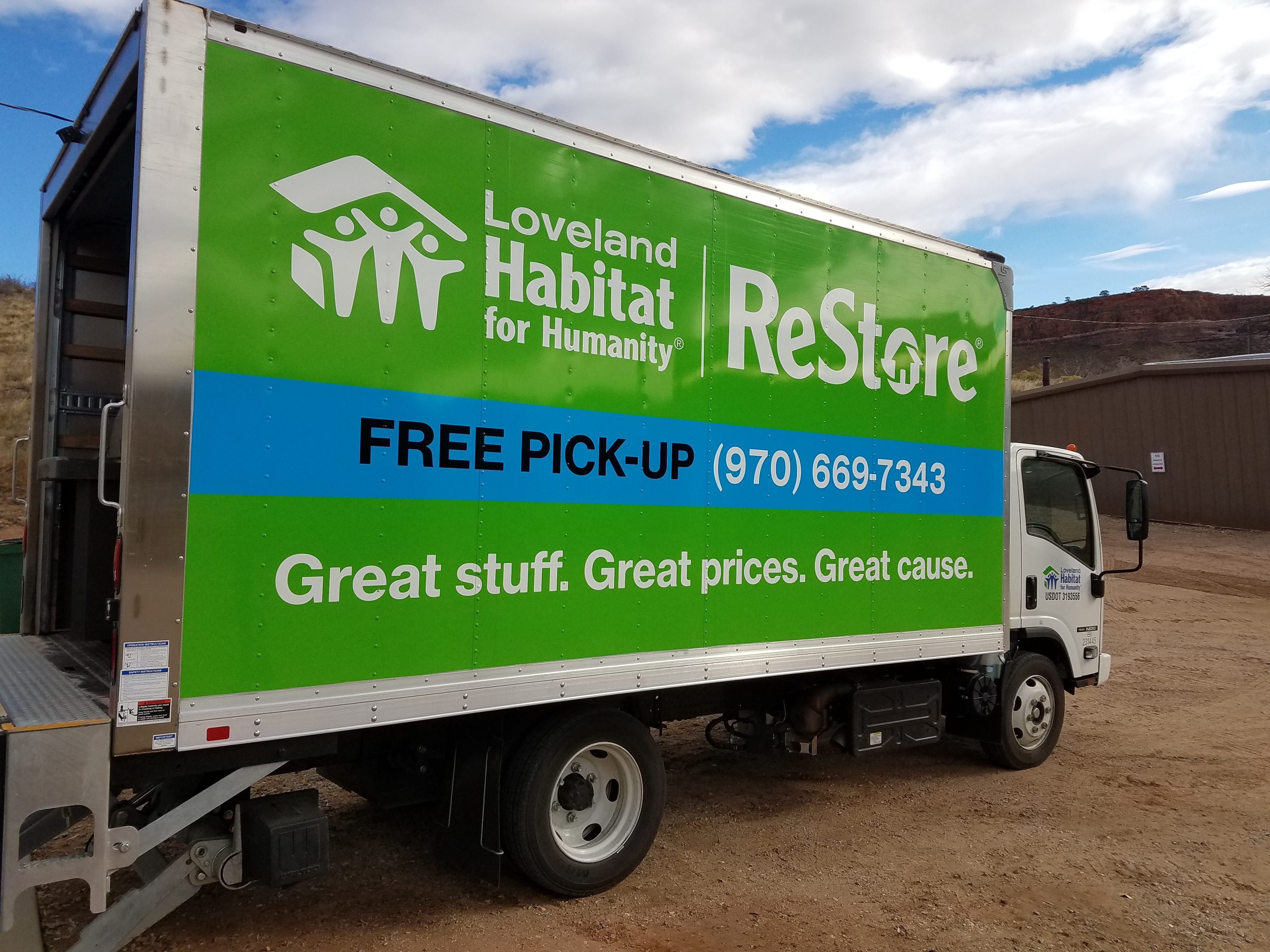 We Make Free Pick-ups of Furniture and Large Donations...Call 970-669-7343.