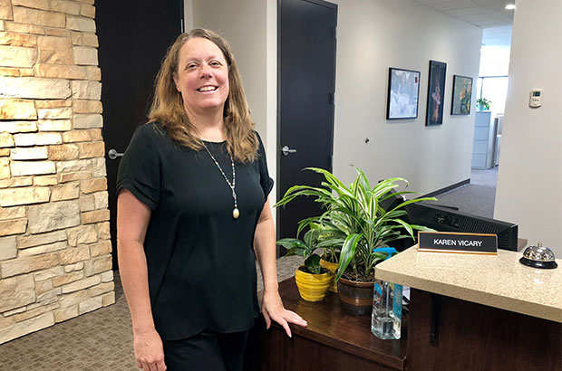 Welcome Karen Vicary, New Office Manager