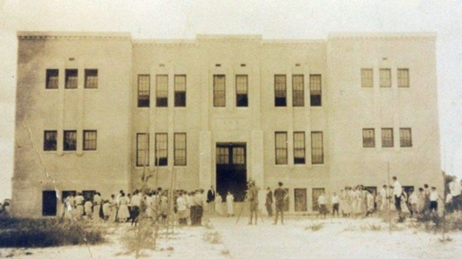 Historic photograph of the Stuart High School Building