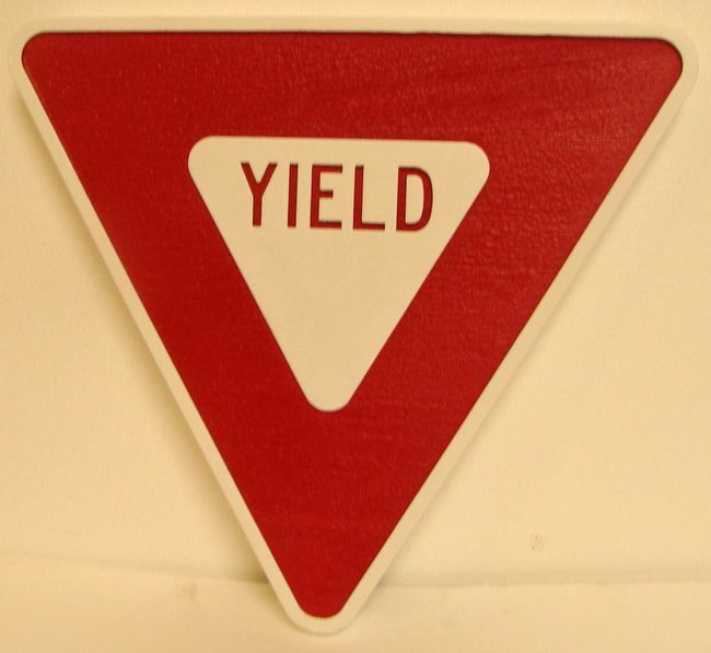 H17182 - Carved and Engraved HDU YIELD Sign