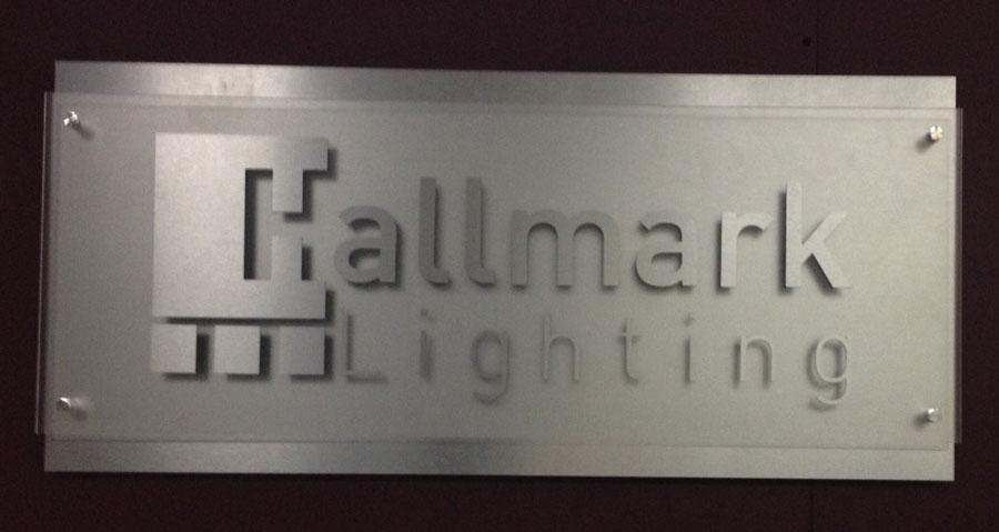 Aluminum Face Lobby Sign