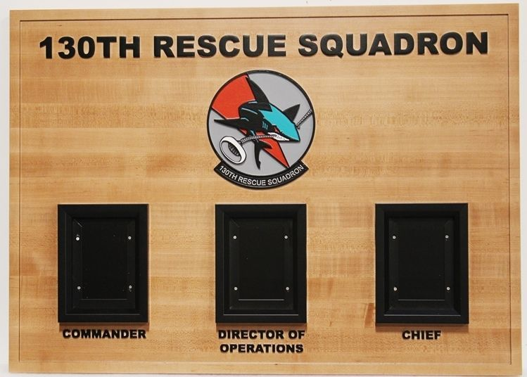 SA1392- Chain-of-Command Board for 130th Rescue Group Squadron