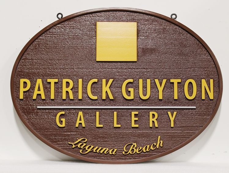 SA28336 - Carved 2.5-DCedar Wood  Sign for the Patrick Guyton Gallery