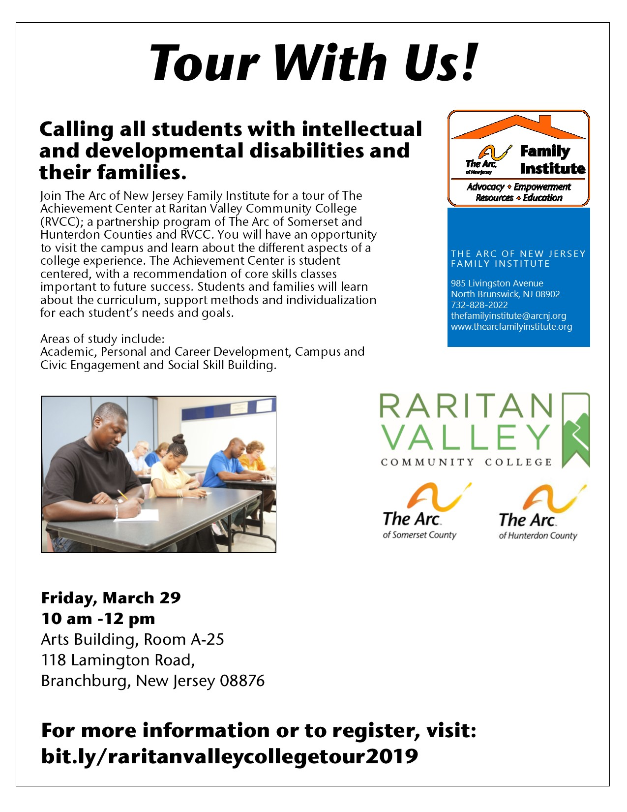 Friday, March 29 - The Achievement Center at Raritan Valley Community College