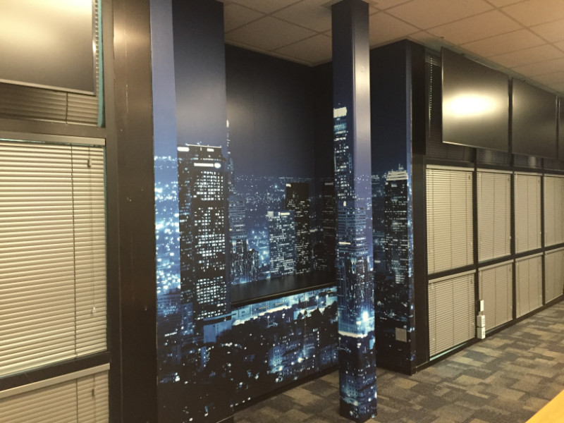 Change office atmospheres with wall murals in Los Angeles County