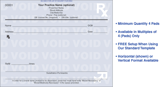 Tamper-Resistant Prescription Forms|Presciption Pads|