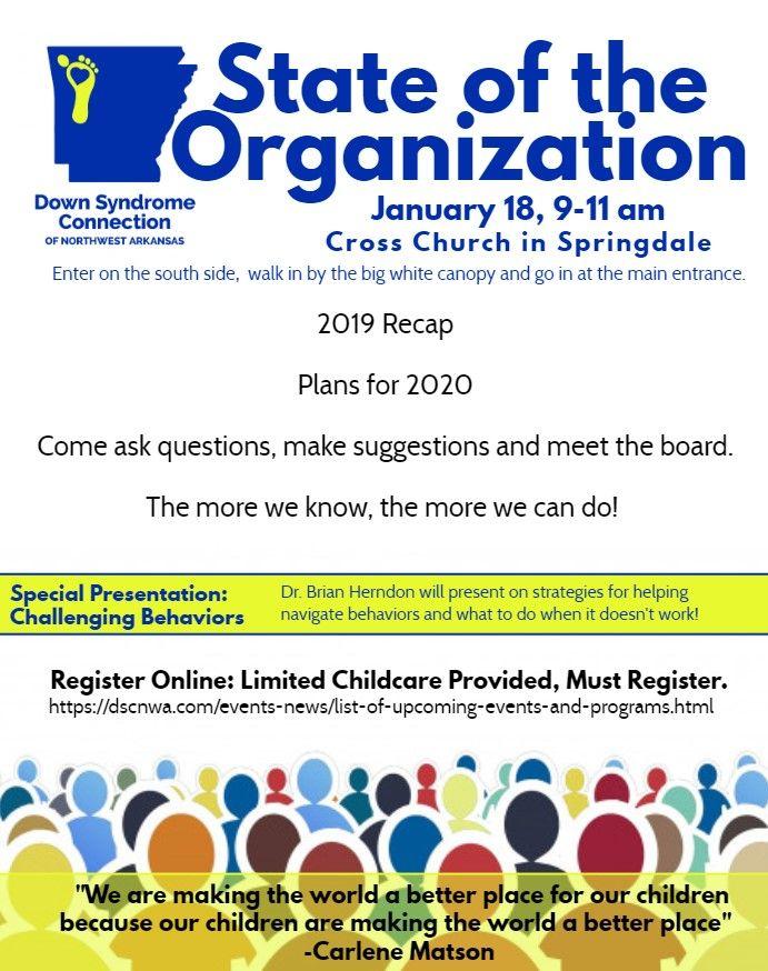 State of the Organization: DSCNWA