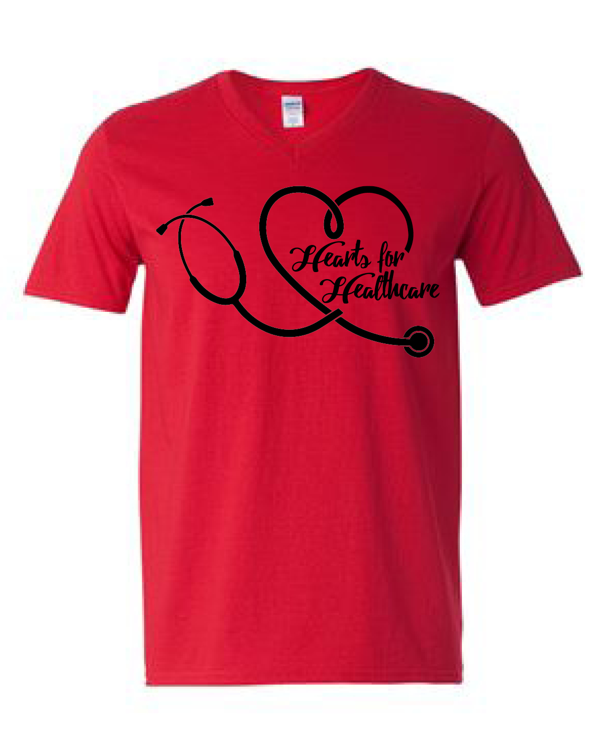 HEARTS FOR HEALTHCARE (RED VNECK)