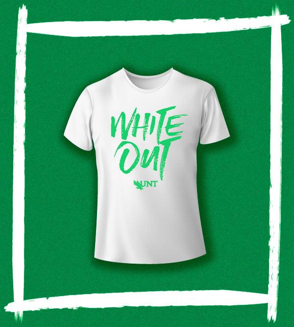 UNT WHITE OUT T-shirt - Large (L)