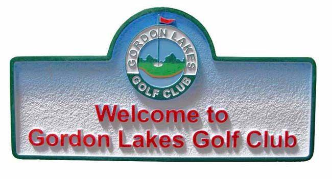 E14130 - Sandblasted HDU Golf Club Sign