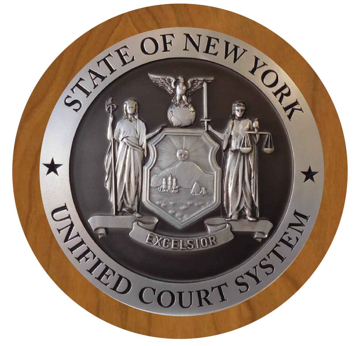 EA-2080 - Great Seal of the State of New York on Mahogany Plaque