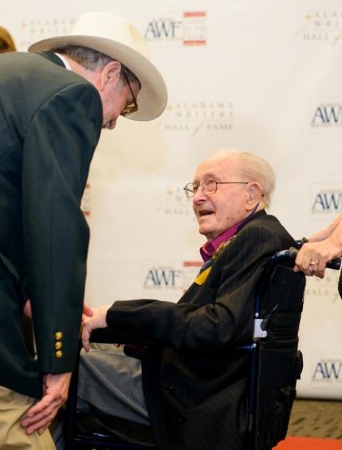 Ted Haddin congratulates Andrew Glaze.
