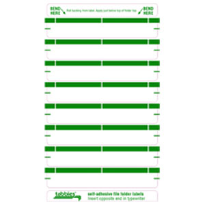 59436 - Green Color Bar Name Labels