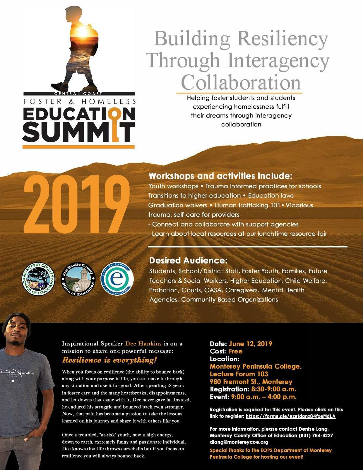 Central Coast Foster & Homeless Education Summit 2019