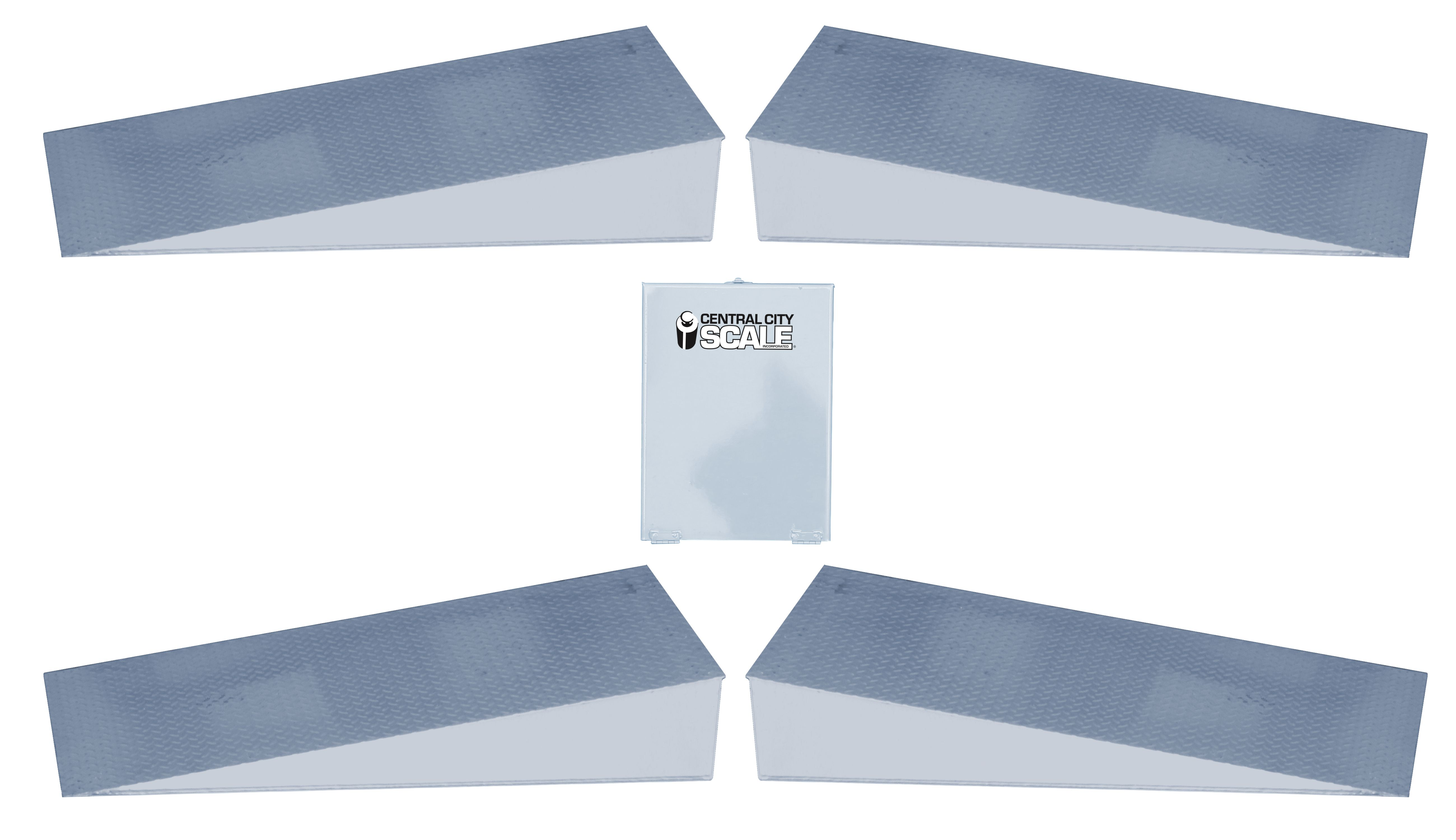 Ramps (set of 4) with Metal Indicator Protective Box