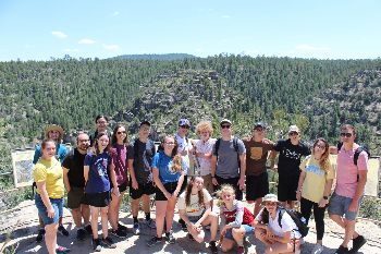 FUMC Youth on a hike