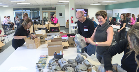 Volunteers Make 500 Healing Hearts Survivor Kits for Cancer Patients