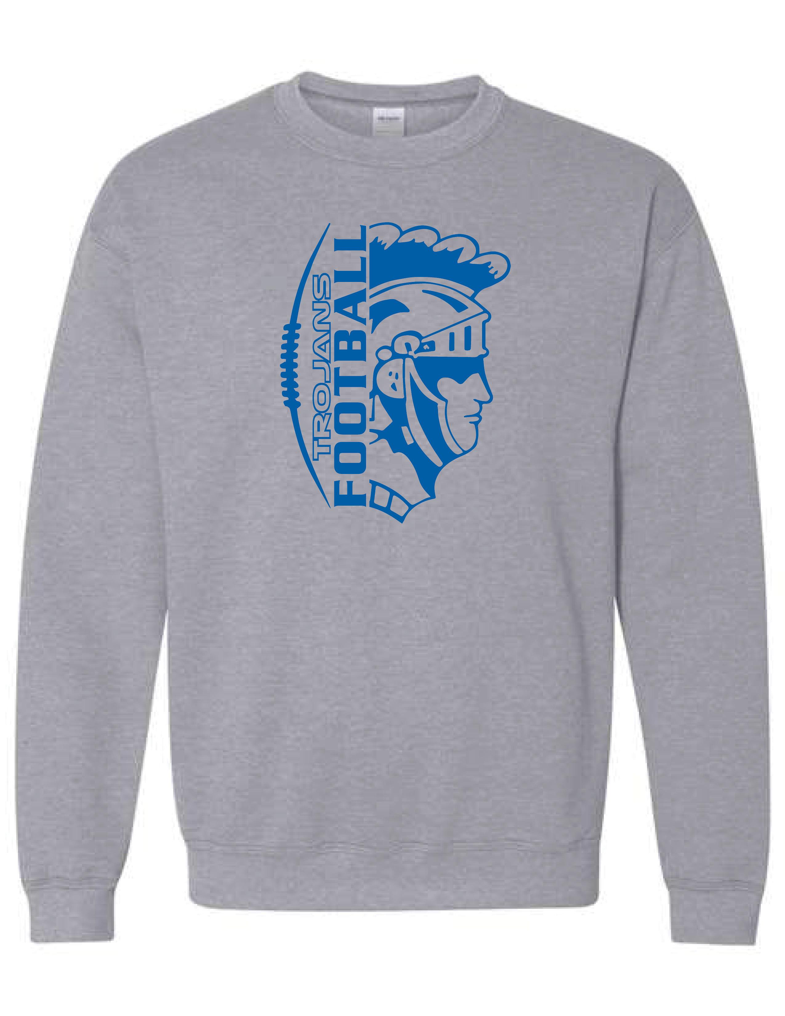 Crew Neck Sweatshirt  (TROJAN) (Youth sizes Available)