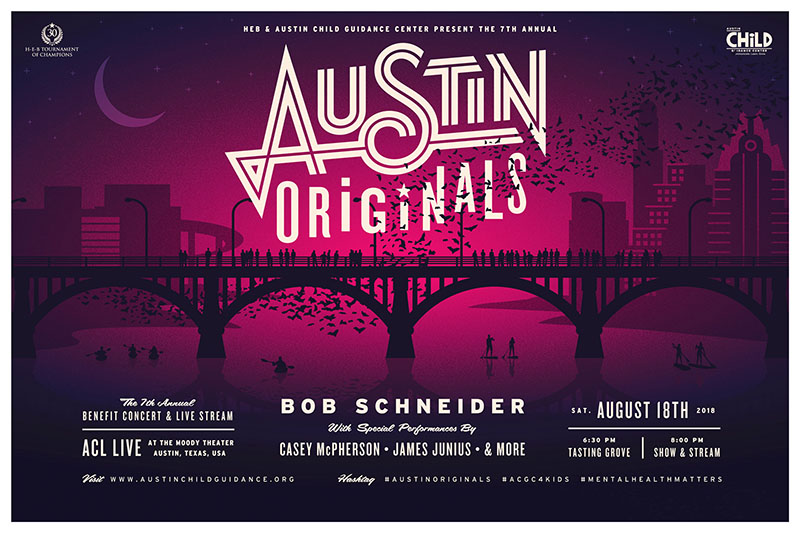Support Mental Health for Kids at the Austin Originals Benefit Concert with Bob Schneider!