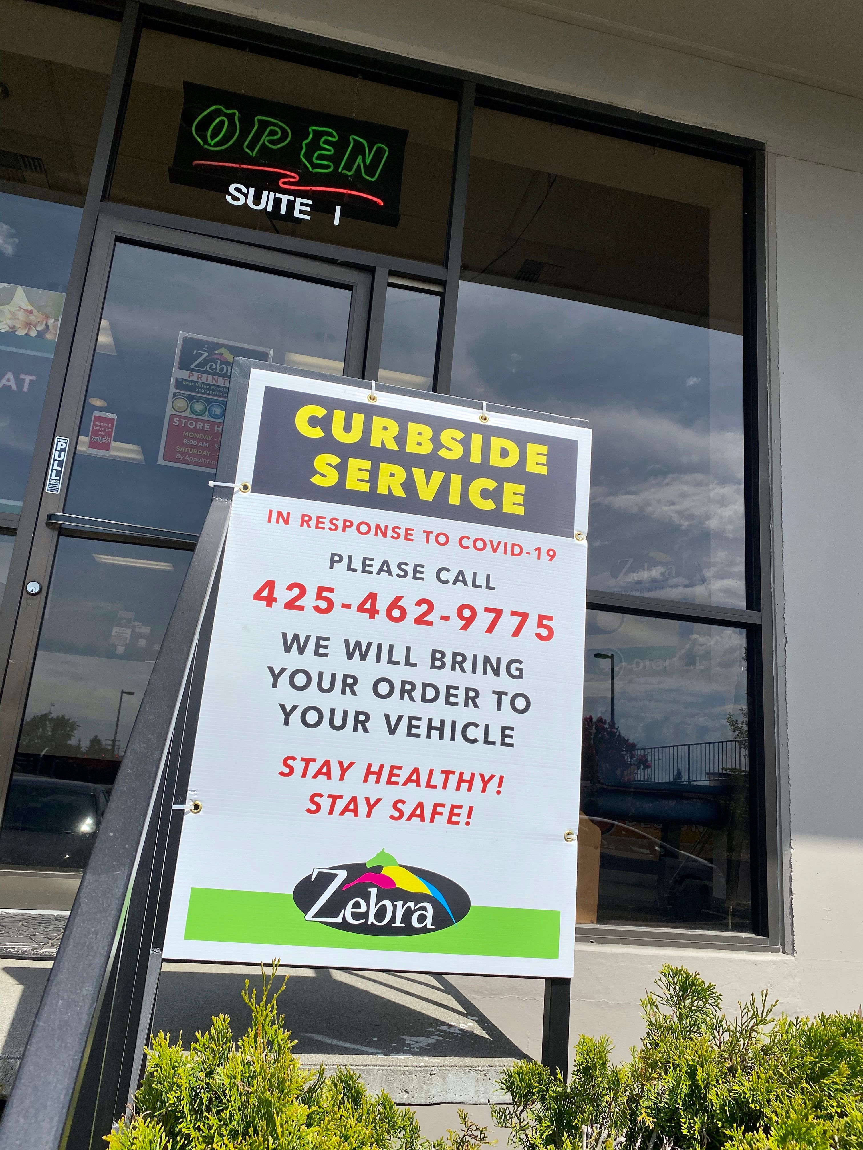 Curbside Service Sign
