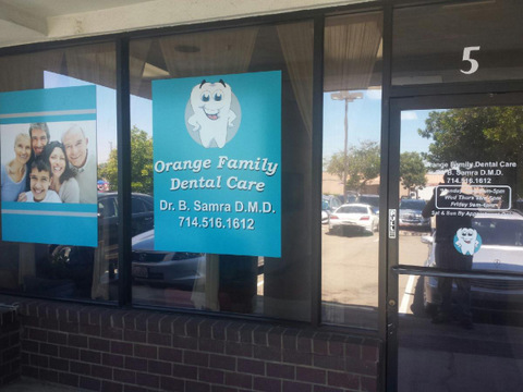 Door And Window Graphics For Orange County Dentists