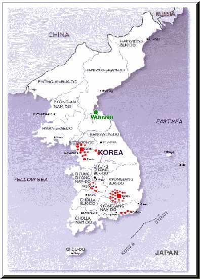 Korea, Daegu Priory, Asia, map, benedictine sisters, missionaries