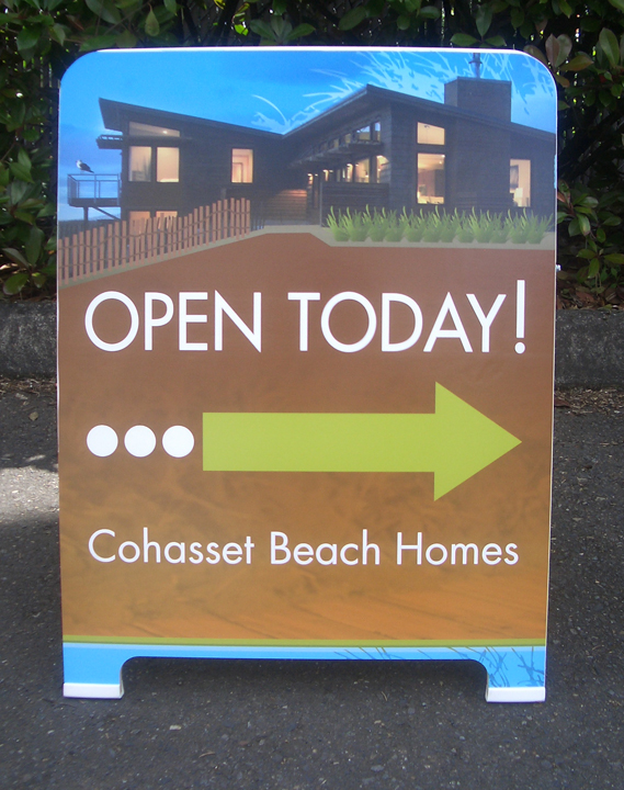 Cohasset Beach A-board full color digital Print