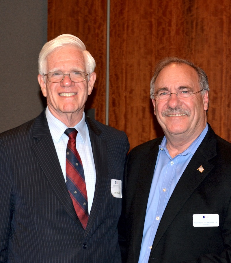Dr. Linton Wells & NCMF President Dick Schaeffer