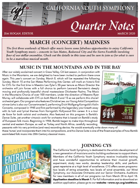 March 2020 Quarter Notes