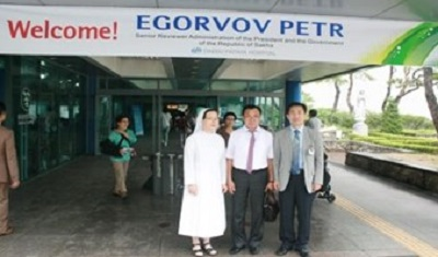 Visit of the Cultural minister officer of Sakha Republic, Egorvov Petr to Daegu Fatima hospital