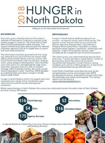 Great Plains Food Bank releases impactful findings from Hunger in North Dakota study