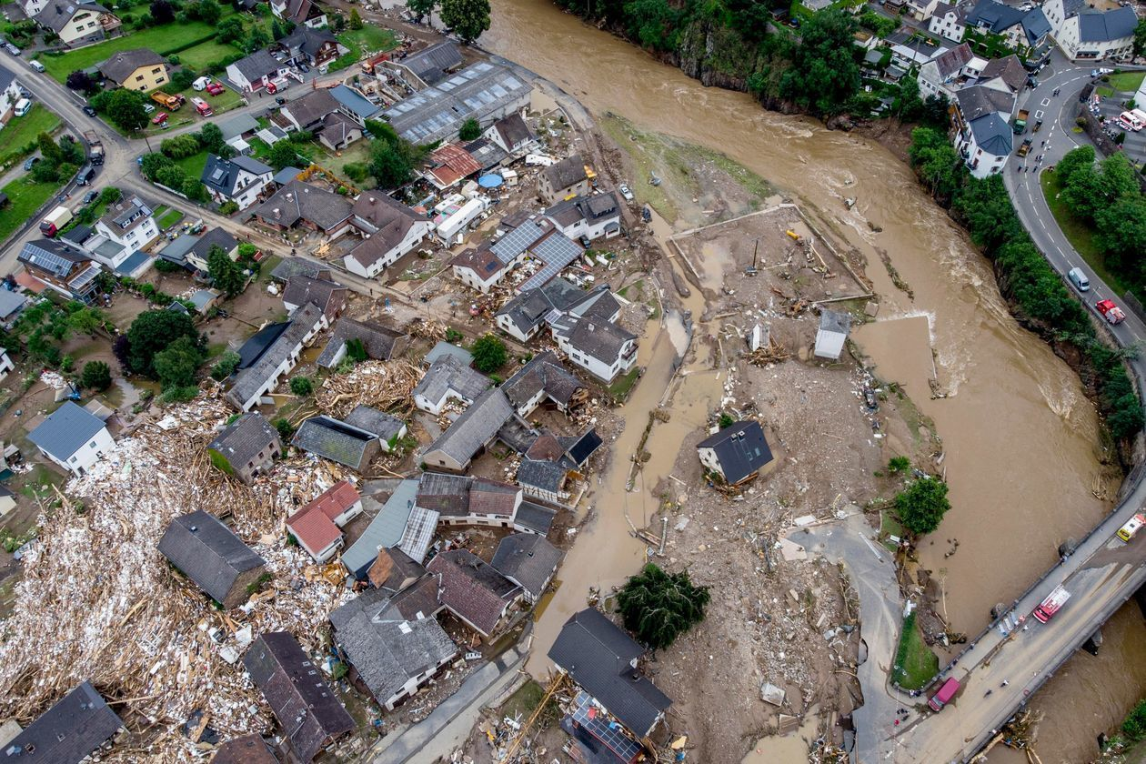 Flooding in Germany and Belgium