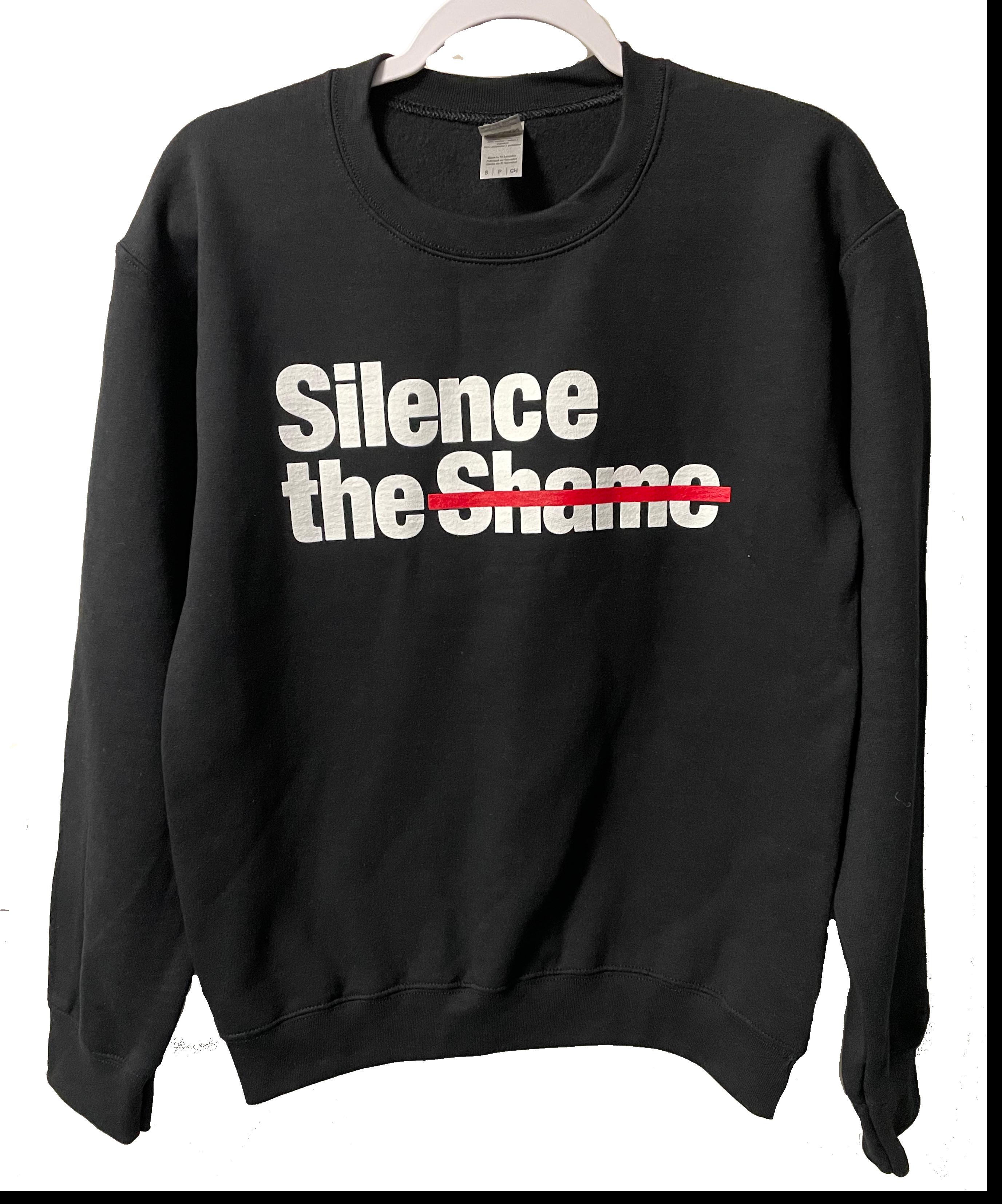 Silence the Shame Signature Black Crewneck Sweatshirt 2XL
