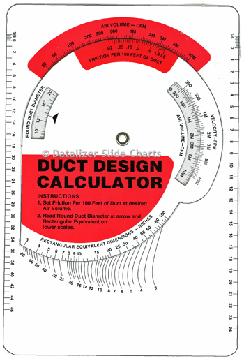 Duct Design Calculator Wheel