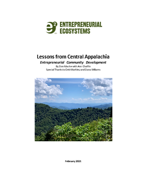 Lessons from Central Appalachia