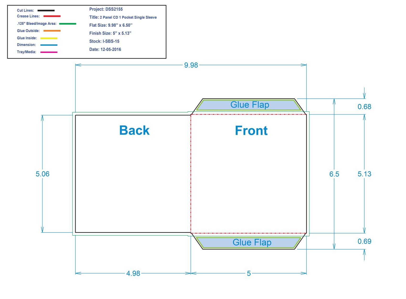 DSS2155 1 Panel CD Single Sleeve
