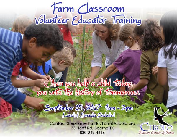 FARM: Farm Classroom Volunteer Educator Training