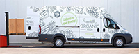 Improving your brand awareness with vehicle wraps.