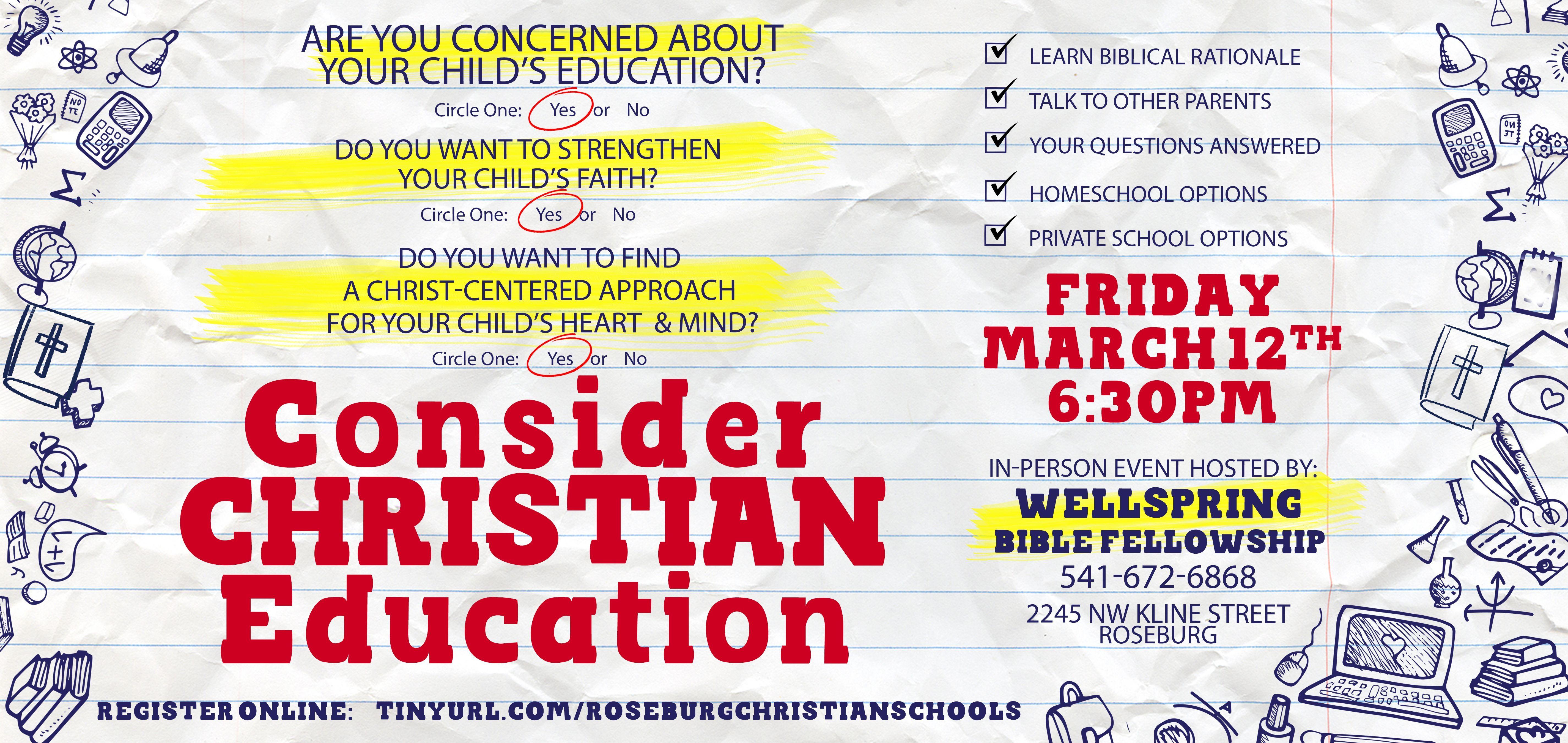 Community: Consider Christian Education
