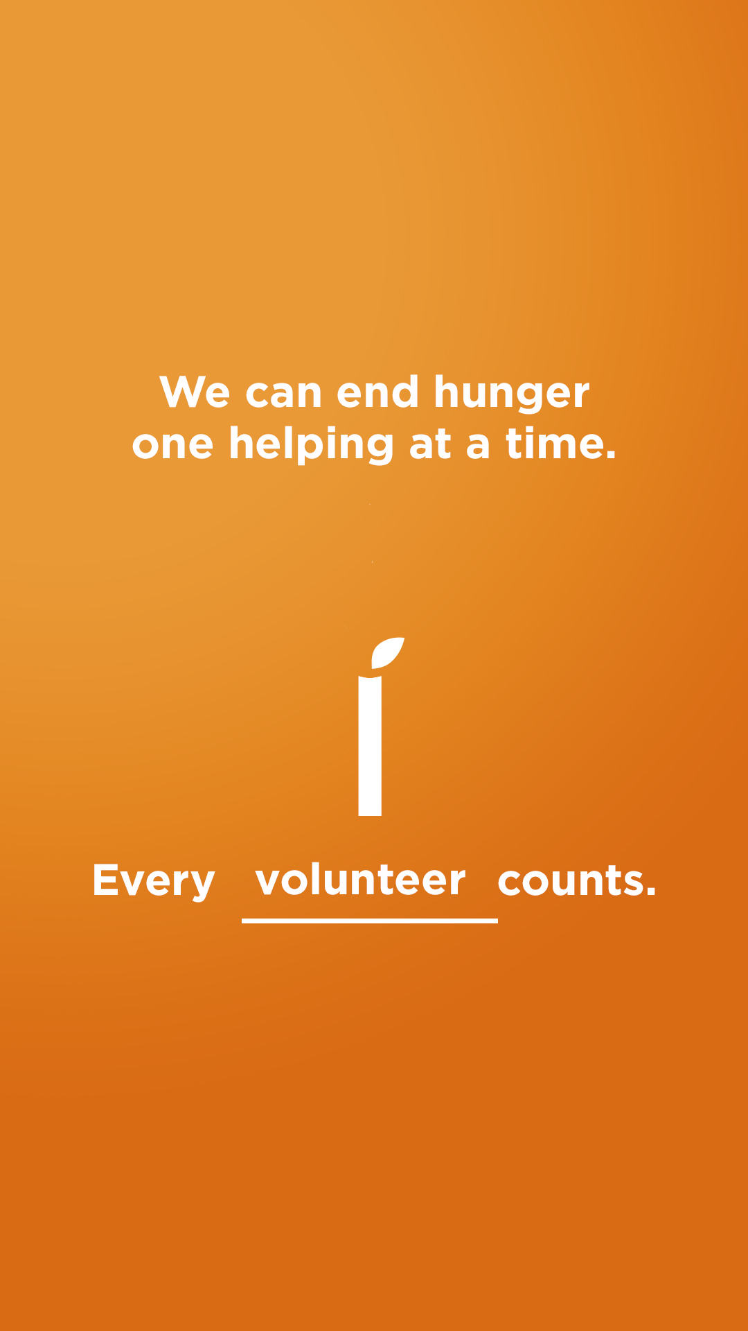 We can end hunger - Volunteer