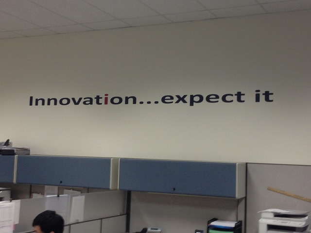 Vinyl wall lettering for offices in Orange County CA