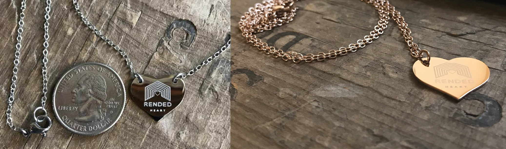 Rended Heart Necklace
