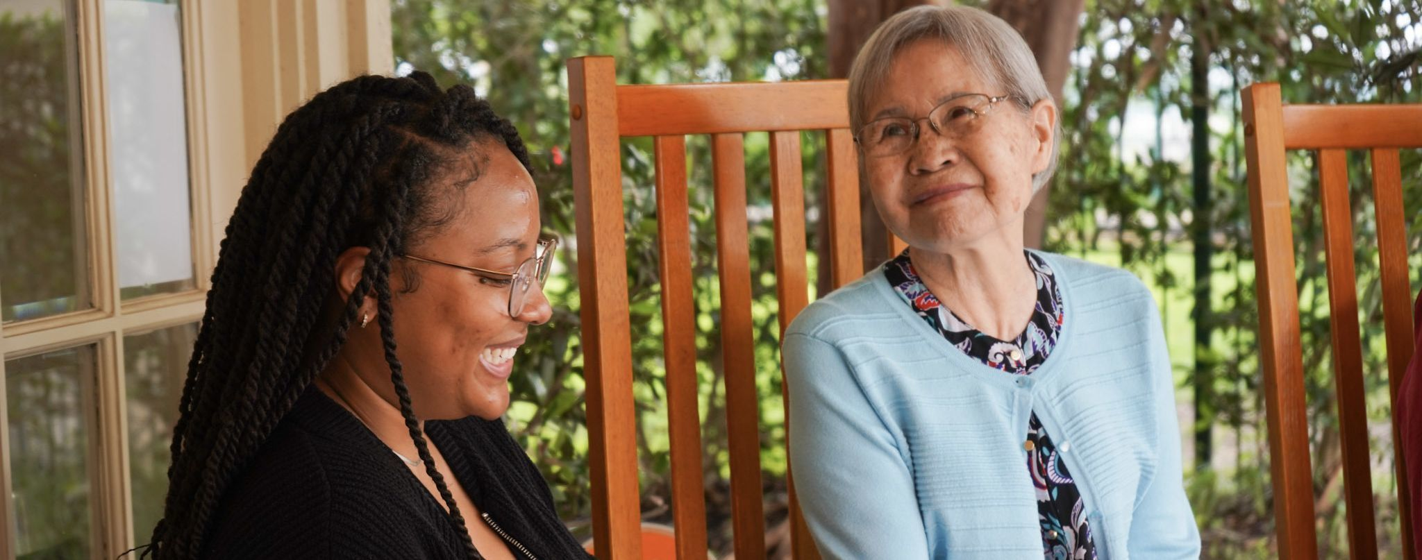 Intern and resident of assisted living