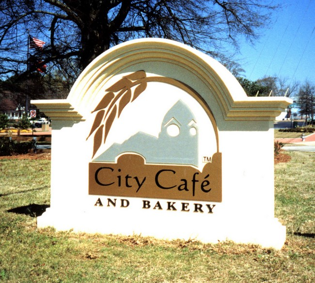 Q25600 - Cafe and Bakery Entrance Monument Sign