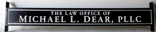 A10345 - Engraved Law Office Sign, mounted between Two Posts.