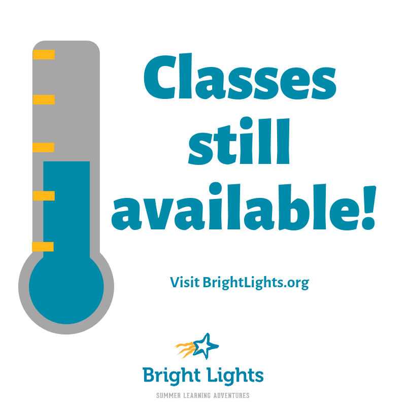 Looking for a class? Great ones still available!